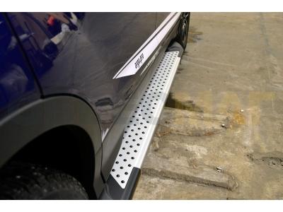 Пороги алюминиевые ALMOND V2 для Suzuki Grand Vitara 3 двери