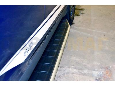 Пороги алюминиевые DOLUNAY для Suzuki Grand Vitara 3 двери 2005-2015