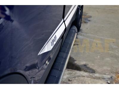 Пороги алюминиевые DURU для Suzuki Grand Vitara 3 двери 2005-2015