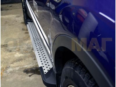 Пороги алюминиевые KING для Suzuki Grand Vitara 3 двери 2005-2015