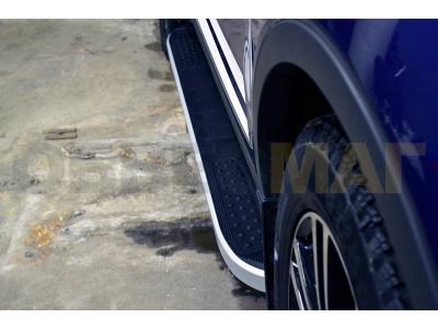 Пороги алюминиевые TAYGA V2 для Renault Kaptur 2016-2019