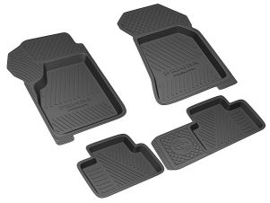 Коврики салона Rezkon Premium резиновые 4 штуки для Lada Priora № 1039025400