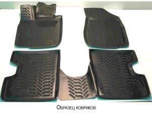 Коврики в салон Элерон 3D с подпятником для Lada Priora № aileron.64027