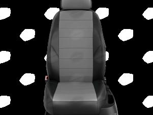 Чехлы экокожа тёмно-серая с перфорацией с чёрными боковинами и спинкой вариант 1 для Nissan Teana 3 № NI19-0603-EC02