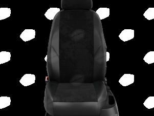 Чехлы чёрная алькантара вариант 1 для Nissan Teana 3 № NI19-0603-EC14