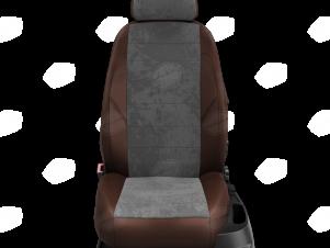 Чехлы тёмно-серая алькантара с шоколадными боковинами и спинкой вариант 1 для Great Wall Hover H3/H5 № GW09-0302-EC16