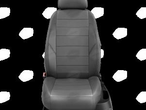 Чехлы экокожа тёмно-серая с перфорацией с тёмно-серыми боковинами и спинкой вариант 1 для Nissan Teana 3 № NI19-0603-EC20