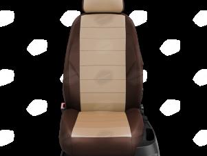 Чехлы экокожа бежевая с перфорацией с шоколадными боковинами и спинкой вариант 1 для Great Wall Hover H3/H5 № GW09-0302-EC22