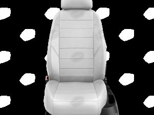 Чехлы экокожа белая с перфорацией с белыми боковинами и спинкой вариант 1 для Great Wall Hover H3/H5 № GW09-0302-EC24