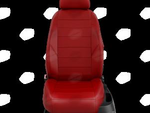 Чехлы экокожа красная с перфорацией с красными боковинами и спинкой вариант 1 для Great Wall Hover H3/H5 № GW09-0302-EC30