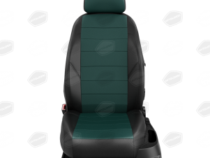 Чехлы экокожа зелёная с перфорацией вариант 1 для Great Wall Hover H3/H5 № GW09-0302-EC34