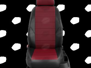 Чехлы экокожа бордовая с перфорацией вариант 1 для Great Wall Hover H3/H5 № GW09-0302-EC36