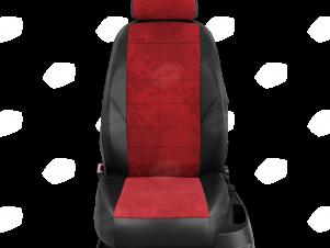 Чехлы красная алькантара для Great Wall Hover H3/H5 № GW09-0302-EC38