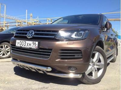 Защита передняя двойная 60-60 мм для Volkswagen Touareg