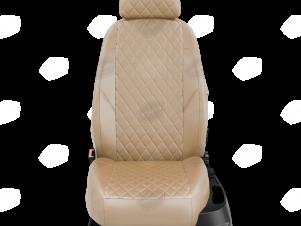Чехлы экокожа бежевая с перфорацией с бежевыми боковинами и спинкой вариант 2 для Nissan Teana 3 № NI19-0603-EC26-R-bge