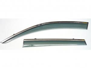 Дефлекторы боковых окон Artway с молдингом из нерж.стали