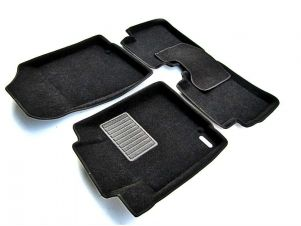 Коврики текстильные 3D Euromat чёрные Original Business на Nissan Teana/Renault Latitude № EMC3D-003718