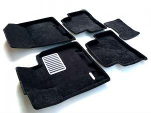 Коврики текстильные 3D Euromat чёрные Original Lux на Nissan Teana/Renault Latitude № EM3D-003718
