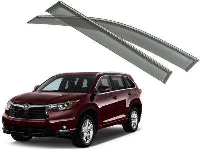 Дефлекторы окон с хромированным молдингом  для Toyota Highlander