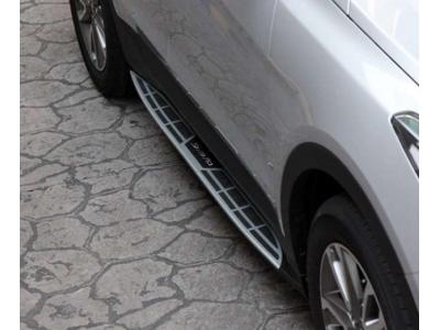 Пороги алюминиевые Mobis (оригинал) для Hyundai Santa Fe