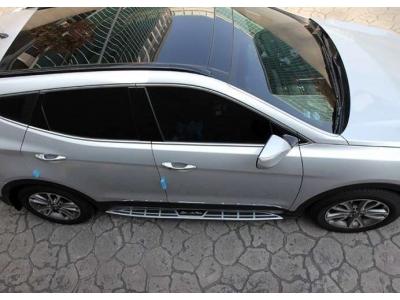 Пороги алюминиевые Mobis (оригинал) OEM Tuning для Hyundai Santa Fe 2012-2018