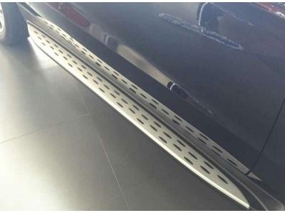 Пороги алюминиевые для Mercedes-Benz GLE на купе