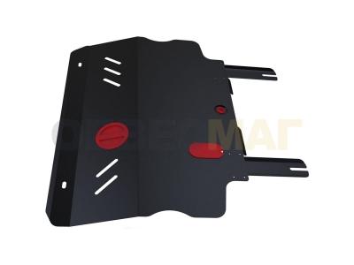 Защита картера и КПП Автоброня для 2,4 АКПП сталь 2 мм для Fiat Freemont 2013-2016