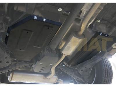 Защита топливного бака Rival для 2,0 и 2,5 сталь 2 мм на 4х4 для Nissan Qashqai/X-Trail T32/Renault Koleos 2014-2019