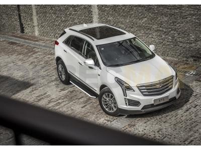 Пороги алюминиевые Rival Premium для Cadillac XT5