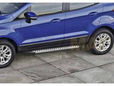 Пороги алюминиевые Rival BMW-Style для Ford Ecosport 2014-2018