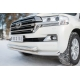 Защита передняя двойная 76-63 мм РусСталь для Toyota Land Cruiser 200 2015-2019