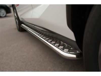 Пороги с площадкой алюминиевый лист квинтет 60 мм для Nissan Pathfinder