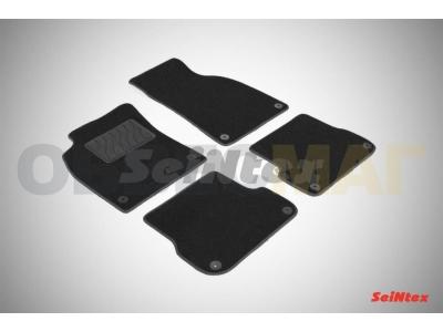 Коврики салона Lux текстильные Seintex чёрные для Audi A6/A6 Allroad 2004-2011
