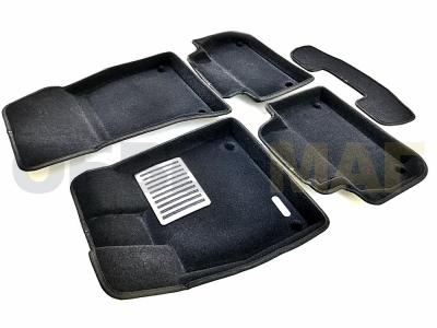 Коврики текстильные 3D Euromat чёрные Original Lux для Audi Q5