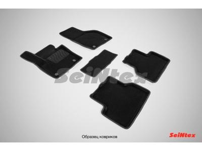 Коврики текстильные 3D Seintex чёрные для Volkswagen Amarok 2010-2019