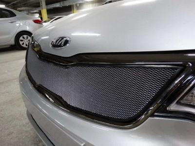 Защита радиатора хром верхняя для Kia Rio