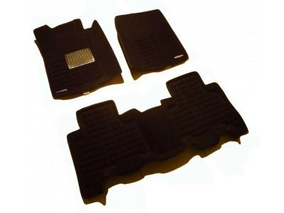 SI 19-00254 Коврики текстильные 3D Pradar черные с металлическим подпятником для Toyota Land Cruiser Prado 150 2013-2020 купите в ОбвесМаге
