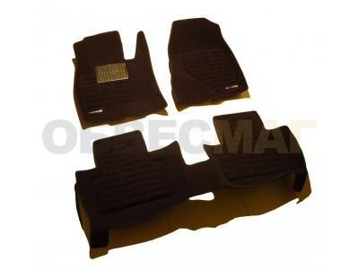 Коврики текстильные 3D Pradar черные с металлическим подпятником для Lexus RX 2009-2015