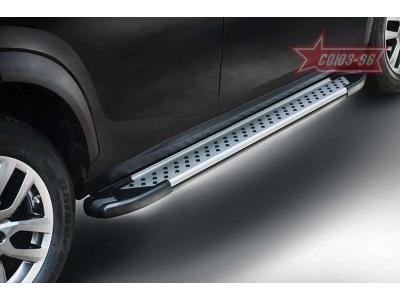 Пороги алюминиевый профиль для Nissan X-Trail