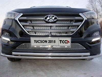 Защита передняя двойная 42,4-42,4 мм для Hyundai Tucson