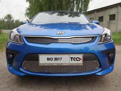 Решетка радиатора верхняя лист ТСС для Kia Rio 2018-2019